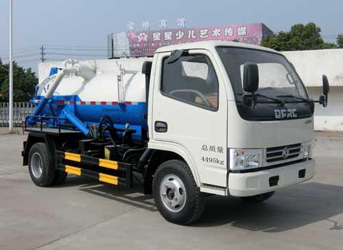 4吨吸污车污水排出方法