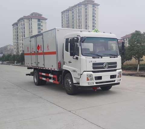 (廂長6.6米)天錦易燃氣體廂式運輸車