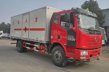 解放J6易燃气体厢式运输车