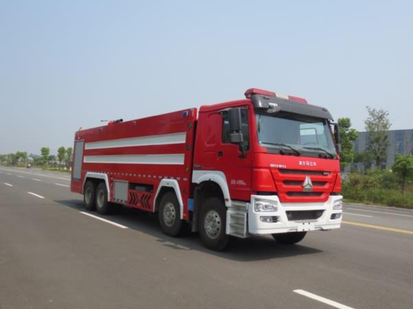 江特牌(JDF5410GXFPM240)泡沫消防车结构及工作原理