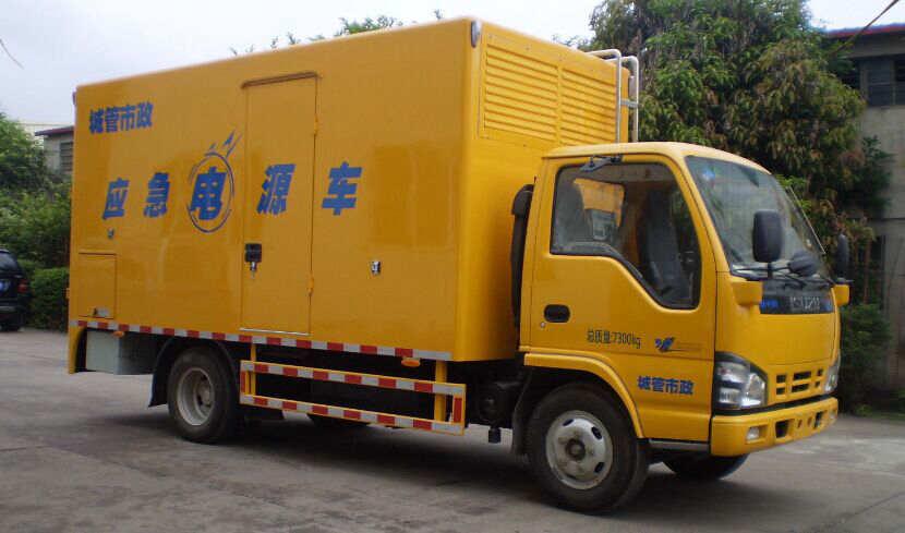 五十铃600P单排电源车