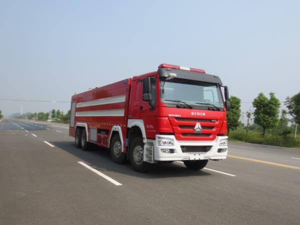 江特牌(JDF5410GXFSG240)水罐消防车结构及工作原理