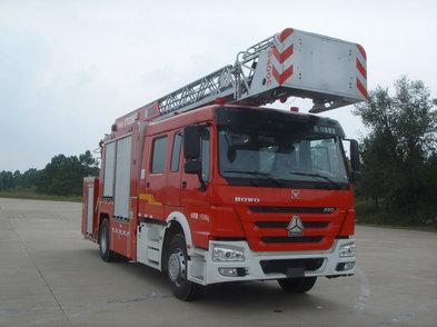 重汽豪沃云梯消防车
