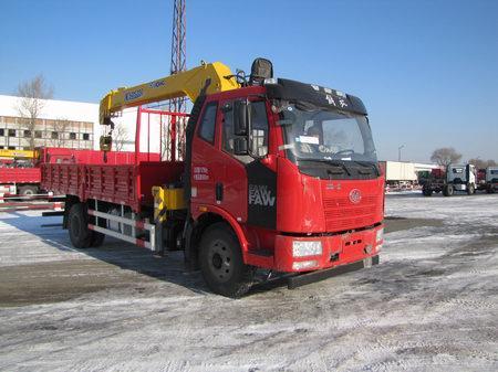 (6.3-10吨吊机)解放单桥随车起重运输车