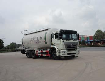 重汽后八轮12吨低密度粉粒物料运输车
