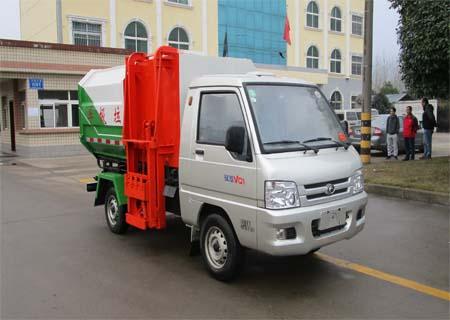 福田馭菱3方掛桶垃圾車\福田馭菱3方自裝卸式垃圾車圖片
