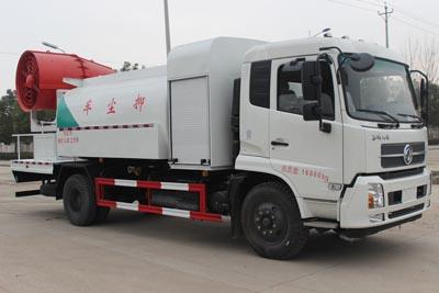 东风天锦圆罐抑尘车(选装60-100米雾炮)