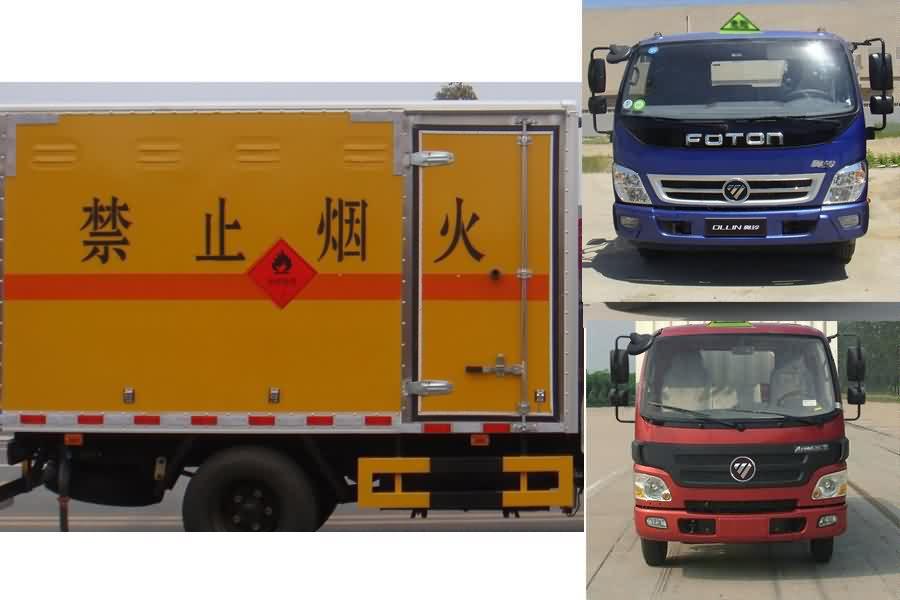 JDF5080XRYB5易燃液體廂式運輸車圖片
