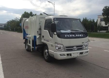 福田牌国五5方自装卸式垃圾车_轻松自动装卸垃圾