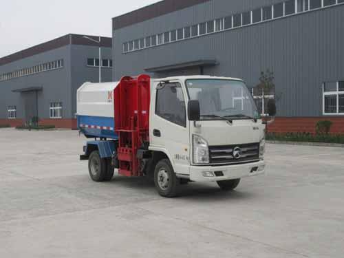 凯马4方挂桶垃圾车/凯马4方自装卸式垃圾车