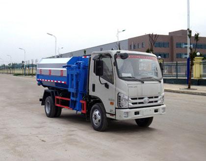 福田时代3方挂桶式垃圾车/自装卸式垃圾车
