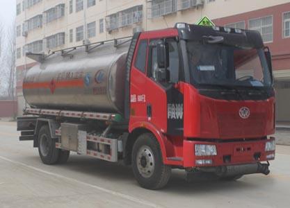 解放J6铝合金油罐车
