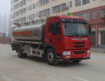 解放鋁合金運油車(10噸汽柴油13.7立方)