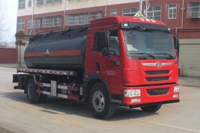 解放8.8立方腐蚀性物品罐式运输车