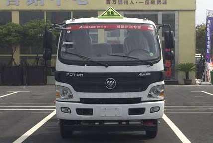 福田欧马可易燃液体厢式运输车
