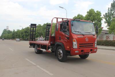 大运单桥5-6米平板运输车/挖机板平板运输车