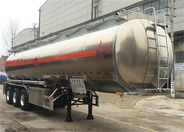 DFZ9402GRY铝合金易燃液体罐式运输半挂车