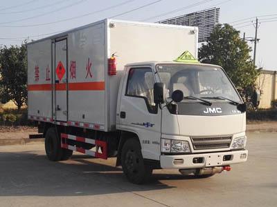 (厢长4.2米)江铃易燃液体厢式运输车