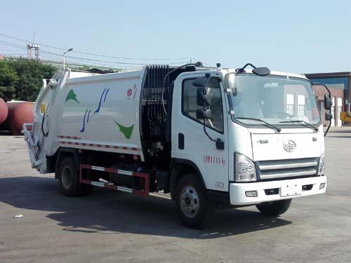 解放8立方壓縮式垃圾車