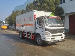 (厢长5.1米)欧马可腐蚀性物品厢式运输车