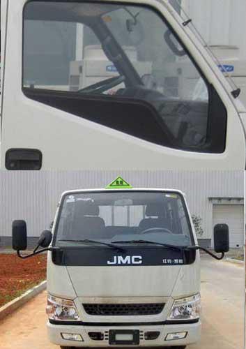 蓝牌江铃易燃液体厢式运输车