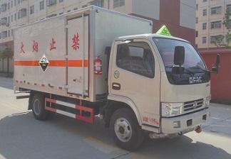 蓝牌东风小多利卡腐蚀性物品厢式运输车