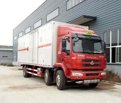 柳汽9.55米易燃气体厢式运输车