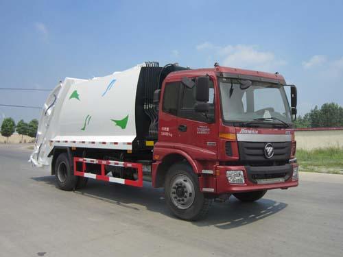 福田歐曼12立方壓縮式垃圾車