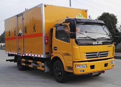 (廂長5.15米)東風D7腐蝕性物品廂式運輸車