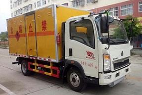 蓝牌重汽豪沃易燃气体厢式运输车