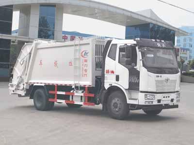 解放压缩式垃圾车(12立方)