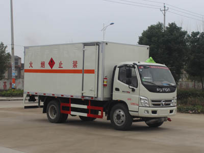 (厢长5.13米)奥铃易燃液体厢式运输车