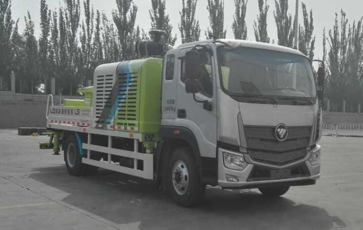 福田车载式混凝土输送泵车图片