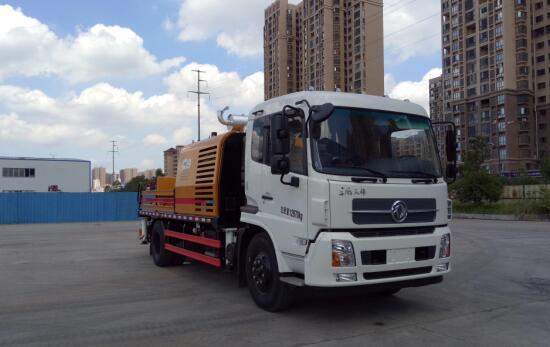 三一车载式混凝土输送泵车图片