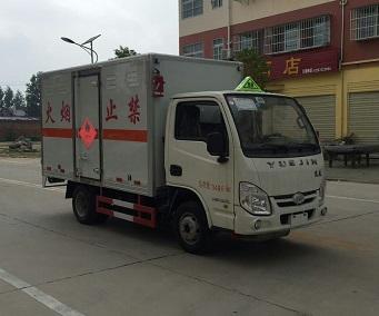 柴油版跃进小福星易燃气体厢式运输车