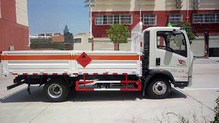 (廂長4.1米)重汽HOWO氣瓶運輸車_高清圖片