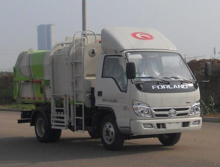 福田4方自装卸式垃圾车问题的对策环节垃圾车_福田4方挂桶垃圾车