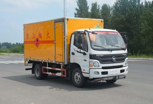 (廂長4.145米)福田奧鈴易燃氣體廂式運輸車