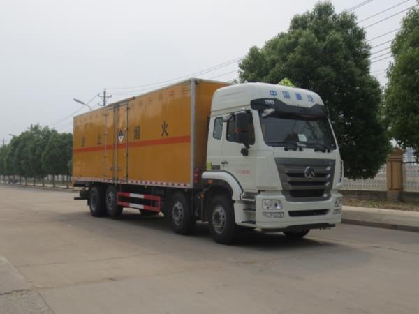 (廂長9.5米)重汽雜項危險物品廂式運輸車