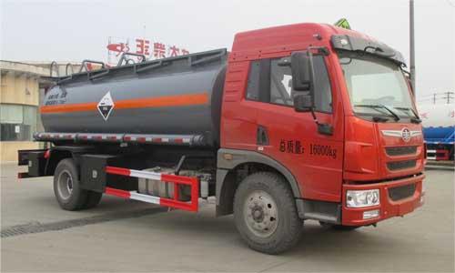 解放8.72立方腐蝕性物品罐式運輸車圖片
