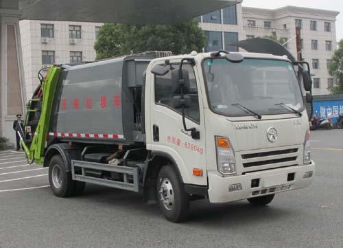 压缩式12吨垃圾车工作原理