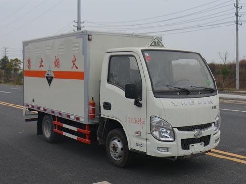 (厢长3.4米)跃进腐蚀性物品厢式运输车