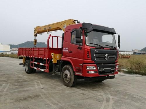 (6.3-10吨吊机)陕汽轩德单桥起重运输车