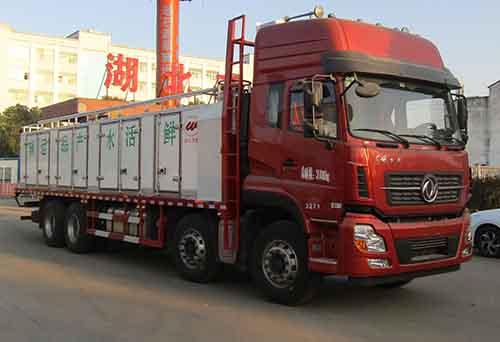 东风天龙前四后八鲜活水产品运输车图片
