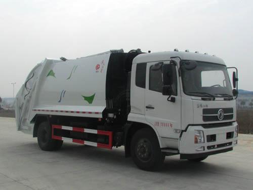 東風天錦14立方壓縮式垃圾車