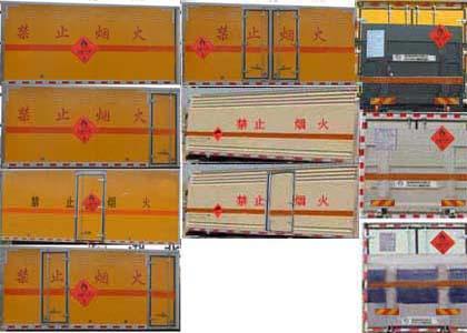 JHW5180XRQDJ易燃氣體廂式運輸車圖片