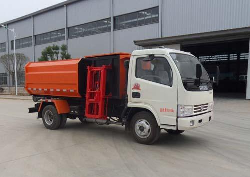 东风多利卡3方5方挂桶垃圾车/自装卸式垃圾车