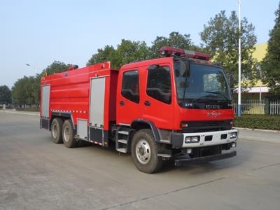 庆铃双排11方水罐消防车