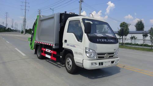 福田小卡4噸藍牌壓縮式垃圾車
