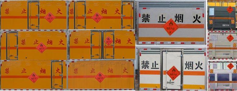 JHW5042XRQ易燃氣體廂式運輸車圖片